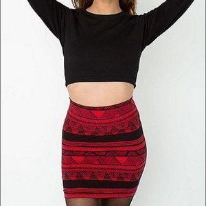 American Apparel Aztec Red Mini Skirt (M)